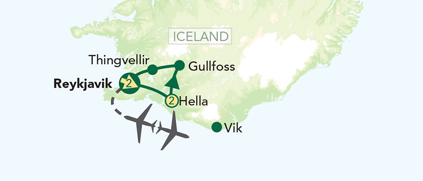 Iceland Tour Map