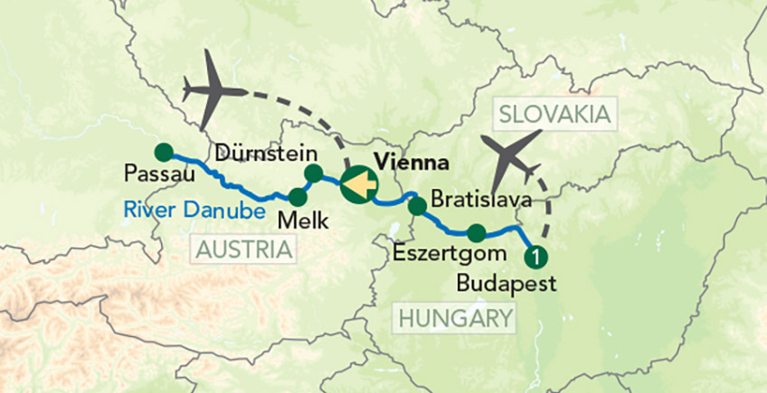Danube Cruise Map