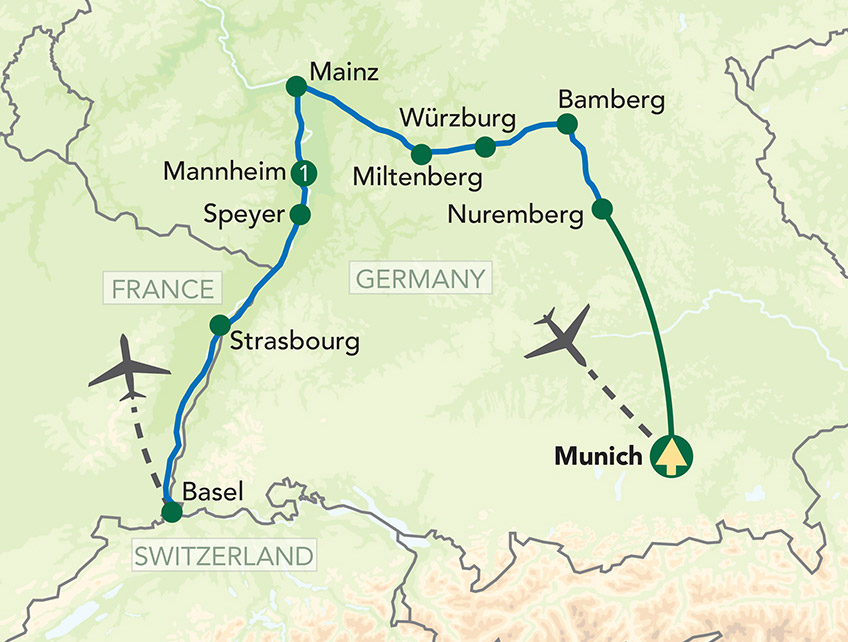 Germany Cruise Map
